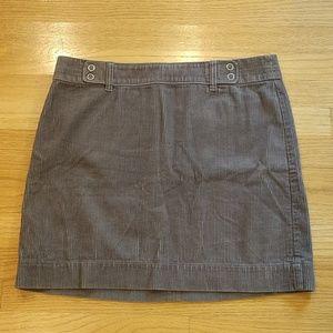 Ann Taylor Gray Corduroy Skirt